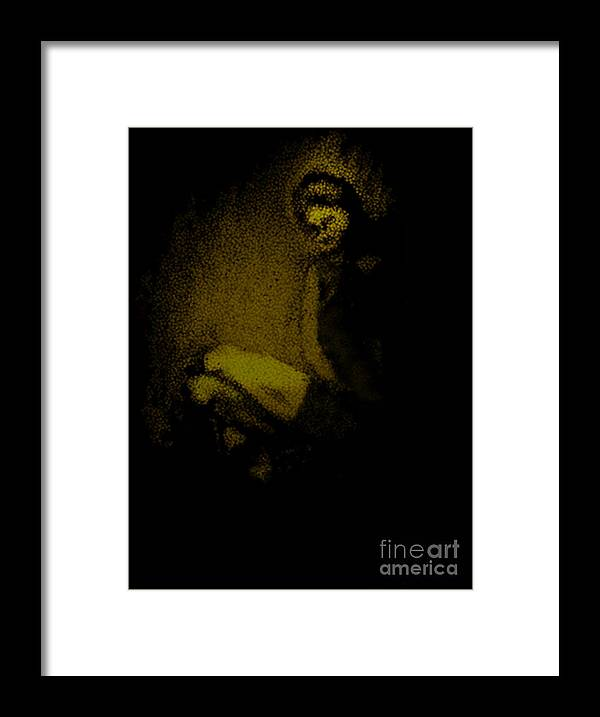 Framed Print featuring the photograph In The Dark by Paula Cork