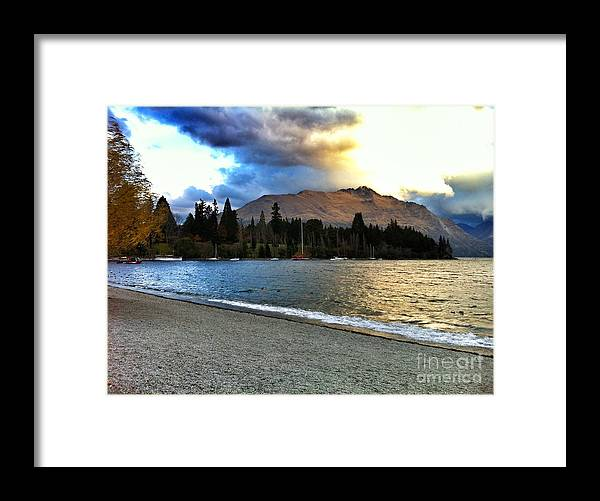 New Zealand Framed Print featuring the photograph In The Distance by Alisha Robertson