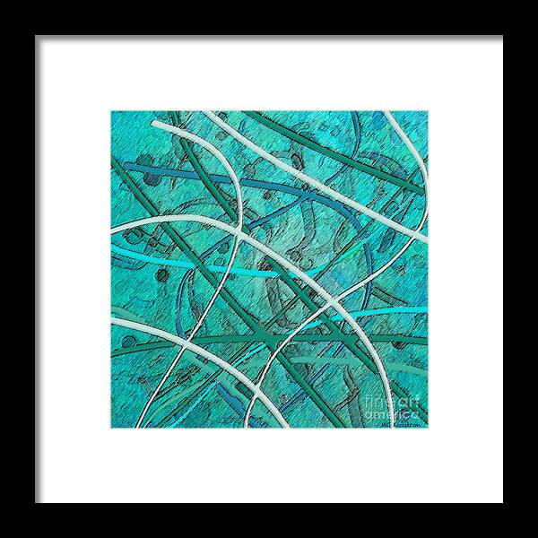 Abstract Framed Print featuring the digital art In the Groove by ME Kozdron