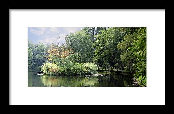 Water Framed Print featuring the photograph In The Park by Trevor Kersley
