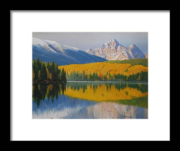 Jake Vandenbrink Framed Print featuring the painting In the Stillness by Jake Vandenbrink