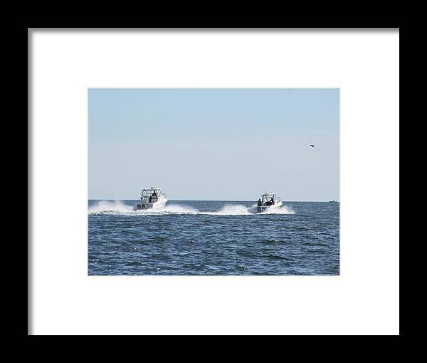 Ocean Framed Print featuring the photograph In The Wake by Loretta Pokorny