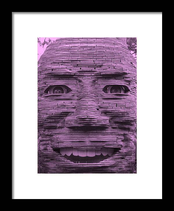 Architecture Framed Print featuring the photograph In Your Face In Light Pink by Rob Hans