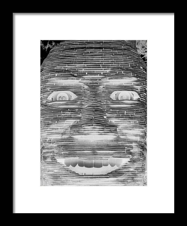 Architecture Framed Print featuring the photograph In Your Face In Neagtive by Rob Hans