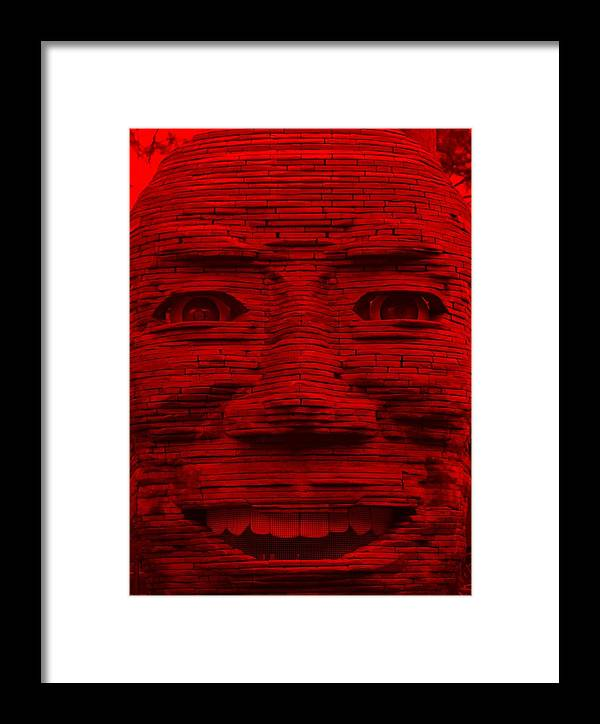 Architecture Framed Print featuring the photograph In Your Face In Red by Rob Hans