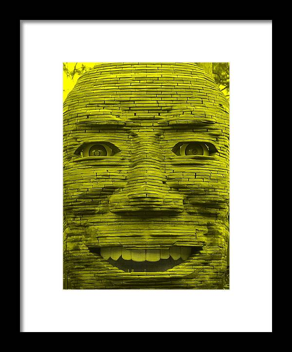 Architecture Framed Print featuring the photograph In Your Face In Yellow by Rob Hans