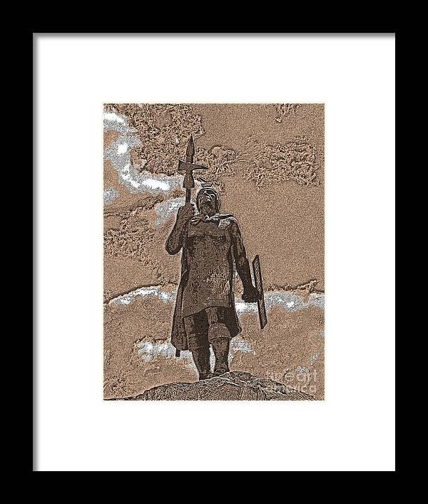 Al Bourassa Framed Print featuring the photograph Inca Warrior by Al Bourassa