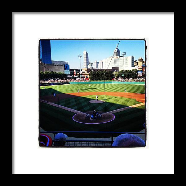 Baseball Framed Print featuring the photograph Indianapolis In The Spring by Brett Ferry