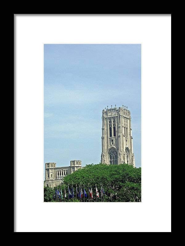 Indianapolis Framed Print featuring the photograph Indianapolis Scottish Rite by Stephen Ogle