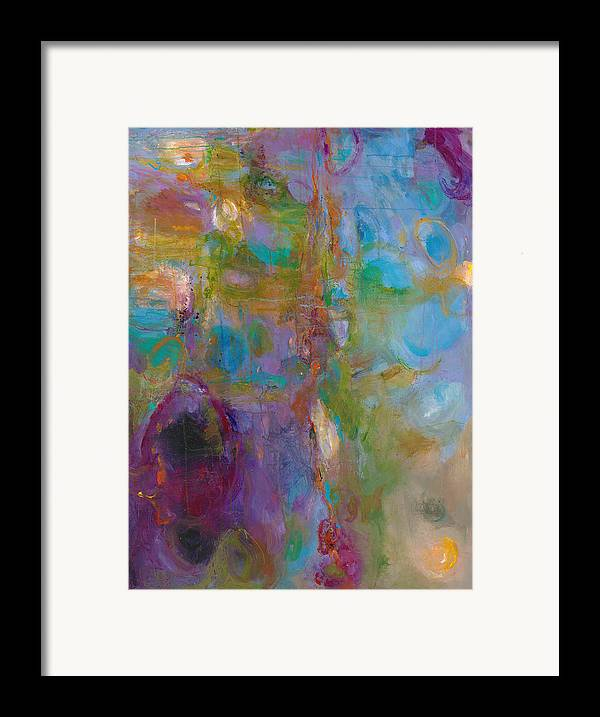 Abstract Expressionistic Framed Print featuring the painting Infinite Tranquility by Johnathan Harris