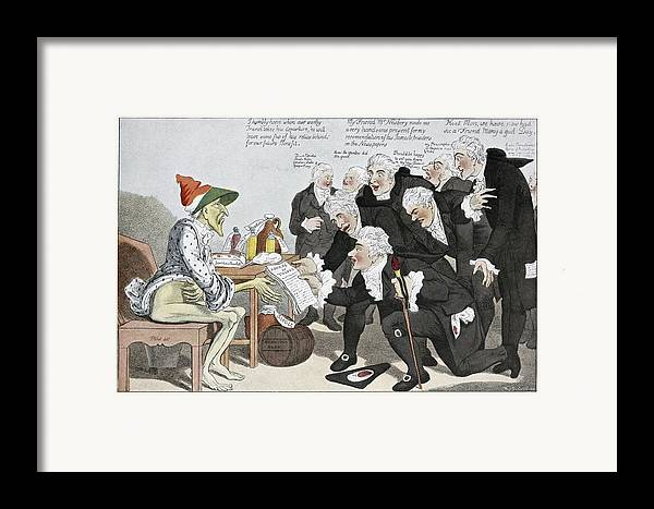 Influenza Framed Print featuring the photograph Influenza Epidemic, Satirical Artwork by