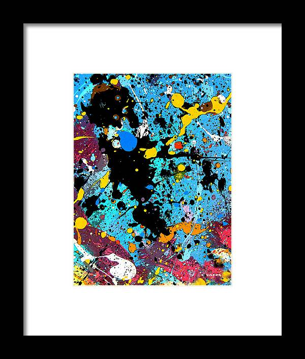 Abstract Framed Print featuring the painting Inky Bazinky by Charles Yates