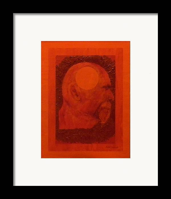 Self Portrait Framed Print featuring the painting Inner Space Or The Dot Within by Gilbert Bernhardt