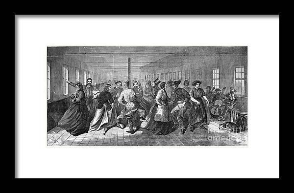 1865 Framed Print featuring the photograph Insane Asylum: Dance by Granger