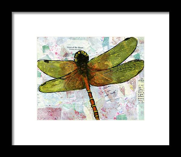 Art Framed Print featuring the painting Insect Art - Voice Of The Heart by Miriam Schulman