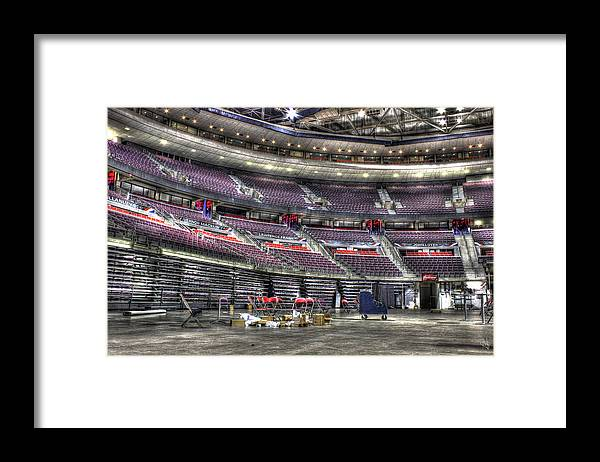 Framed Print featuring the photograph Inside The Palace of Auburn Hills MI by Nicholas Grunas