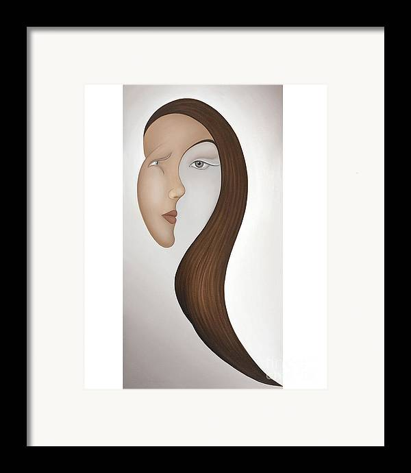 Sensual Framed Print featuring the painting Insight by Joanna Pregon