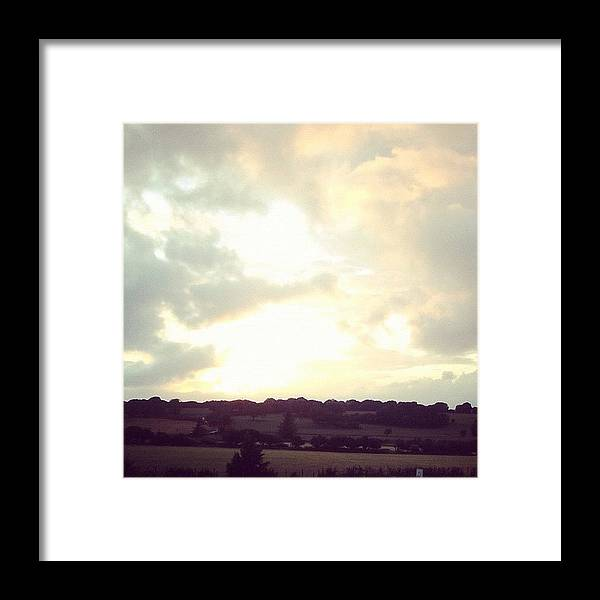 instagram #scenery #sky #clouds Framed Print by Abi Wyn