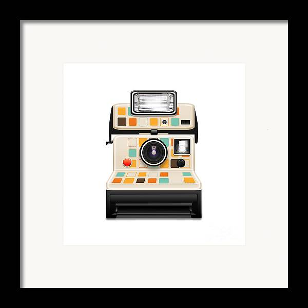 Analog Framed Print featuring the photograph Instant Camera by Setsiri Silapasuwanchai