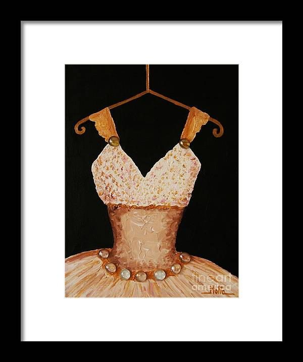 Ballet Framed Print featuring the painting Instant Princess by Cris Motta