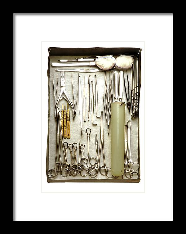 Instrument Framed Print featuring the photograph Instruments Used In Orthopedic Surgery by Tim Vernonlth Nhs Trust