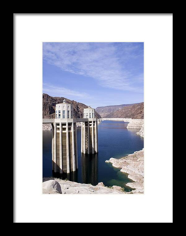 America Framed Print featuring the photograph Intake Towers At Hoover Dam by Mark Williamson
