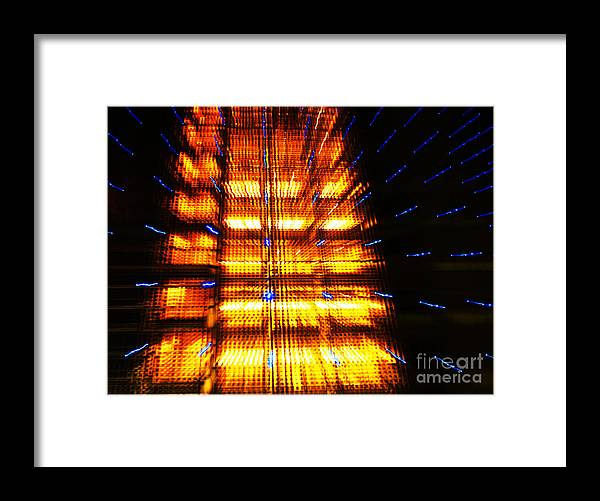 Abstract Framed Print featuring the photograph Intergalactica by Urban Shooters