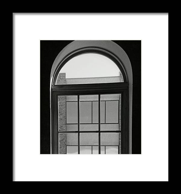 Abstract Framed Print featuring the photograph Interior - Windows In Black And White by Lenore Senior