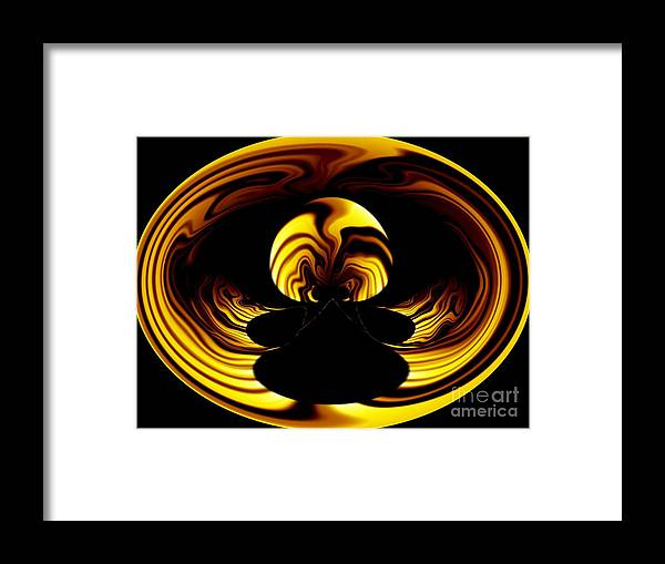 Fire Framed Print featuring the digital art Internal Flame by Laurence Oliver