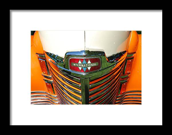 Vintage Car Framed Print featuring the photograph International Front End by Richard Adams