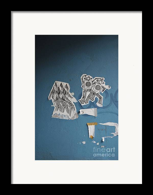 Robots Framed Print featuring the photograph International Robots by Jen Bodendorfer
