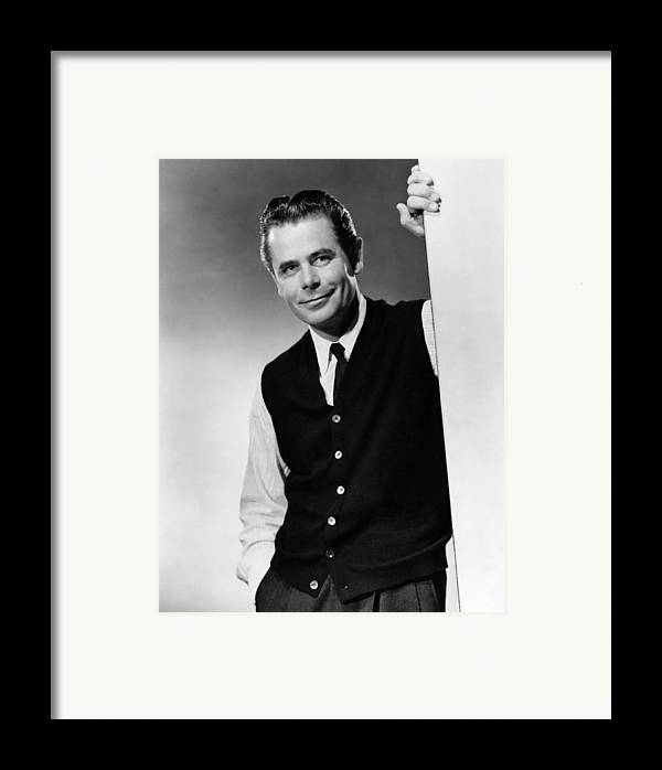 1950s Portraits Framed Print featuring the photograph Interrupted Melody, Glenn Ford, 1955 by Everett