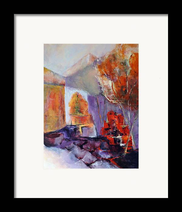 Abstract Framed Print featuring the painting Intimiste by Francoise Dugourd-Caput