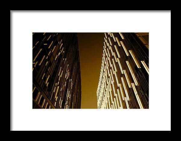 Jezcself Framed Print featuring the photograph Into The Dark by Jez C Self