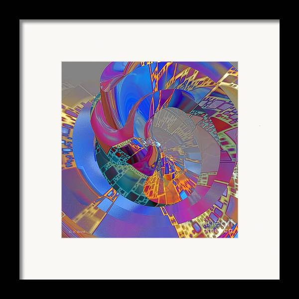 Abstract Framed Print featuring the digital art Into The Inner World by Deborah Benoit