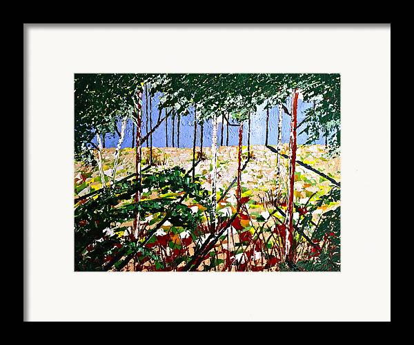 Original Framed Print featuring the painting Into The Wood by Eric Chapman