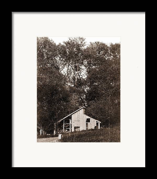 Shack Framed Print featuring the photograph Iowa Shack by Sleepy Weasel