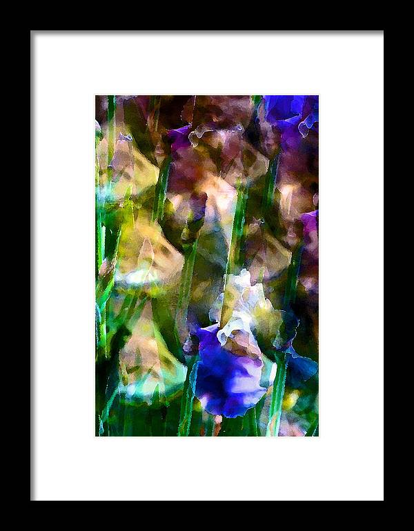 Floral Framed Print featuring the photograph Iris 52 by Pamela Cooper