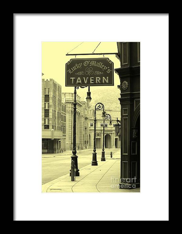 Tavern Framed Print featuring the photograph Irish Pub by Sophie Vigneault