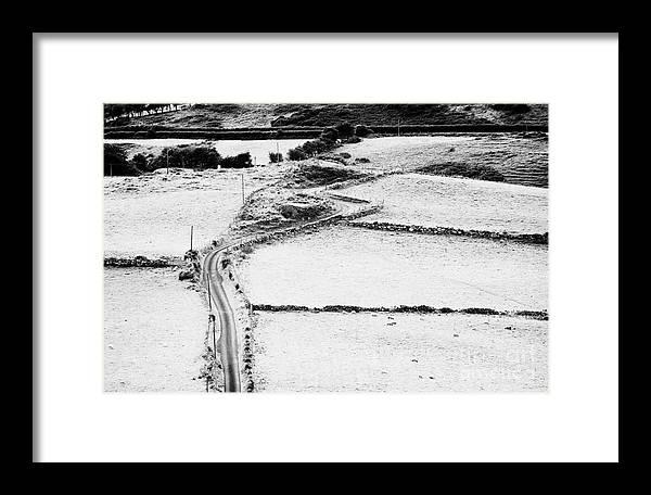 Northern Framed Print featuring the photograph Irish Winding Road by Joe Fox