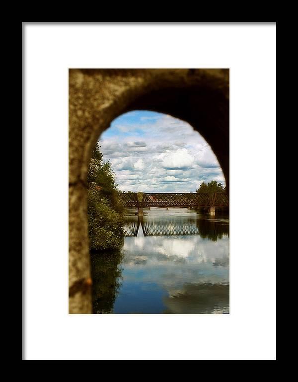 Framed Print featuring the photograph Iron Bridge Centenial Trail by Dan Quam