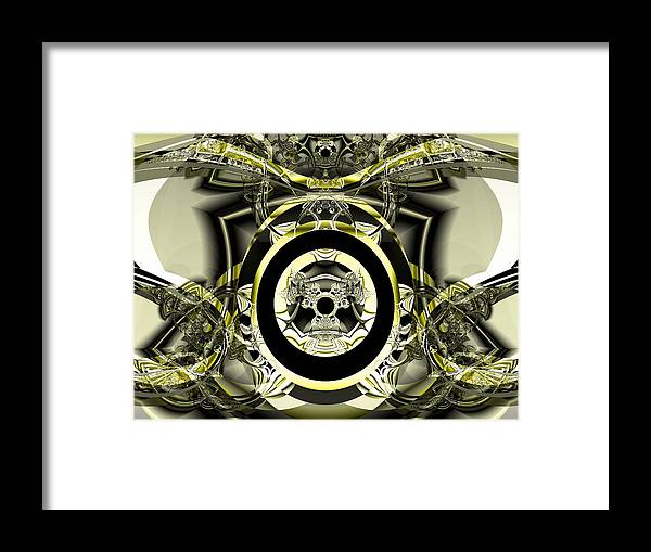 Fractal Art Digital Art Framed Print featuring the digital art Iron Work by Frederic Durville