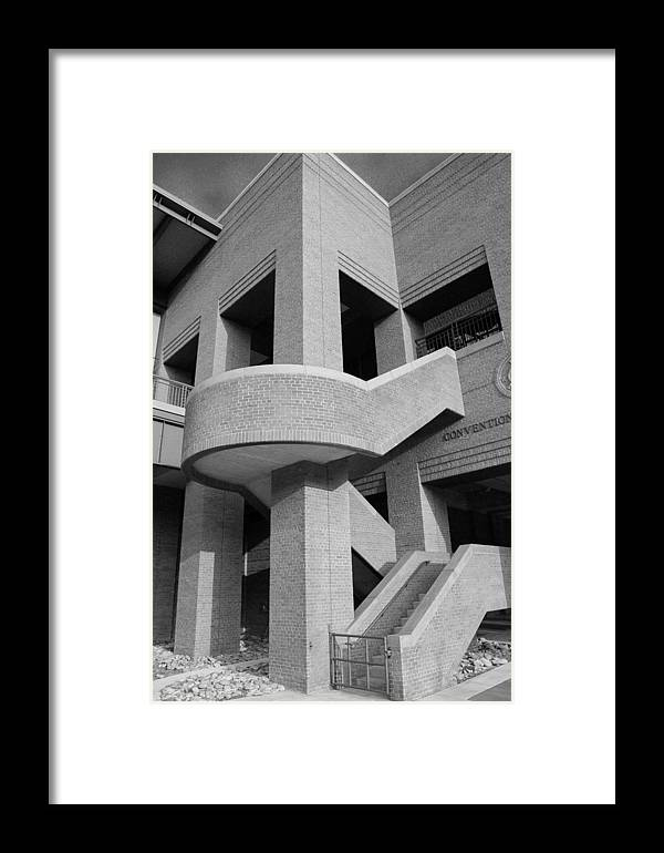 Ironwork Framed Print featuring the photograph Iron Works Detail In Black And White by Brian Parton