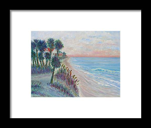 Seascape Framed Print featuring the painting Isle of Palms by Ben Kiger