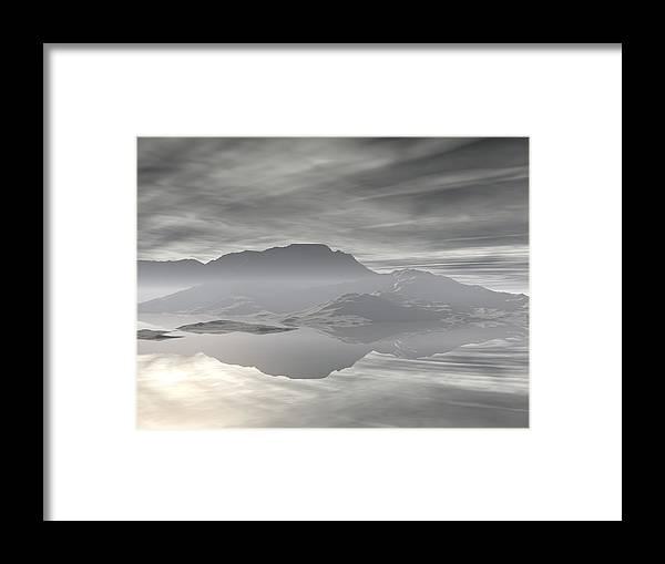 Digital Art Framed Print featuring the digital art Isle Of Serenity by Phil Perkins