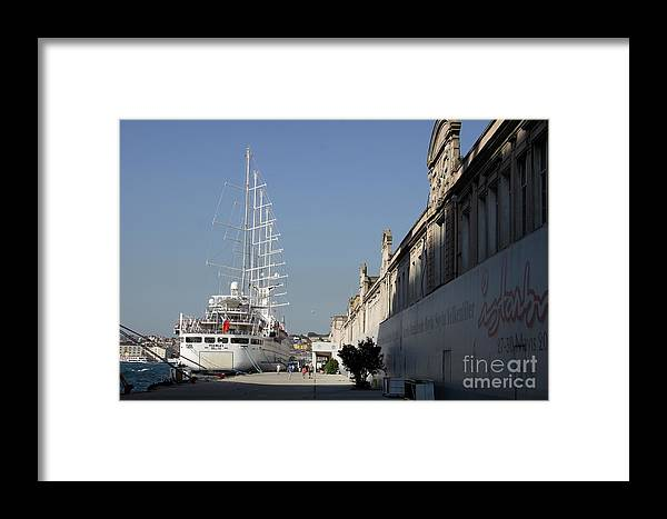 Cruise Ship Terminal Framed Print featuring the photograph Istanbul Cruise Ship Terminal by Christiane Schulze Art And Photography