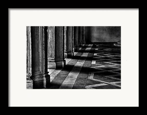 Horizontal Framed Print featuring the photograph Italian Columns In Venice by McDonald P. Mirabile