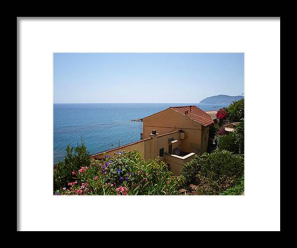Ocean Framed Print featuring the photograph Italian Riviera by Philip G