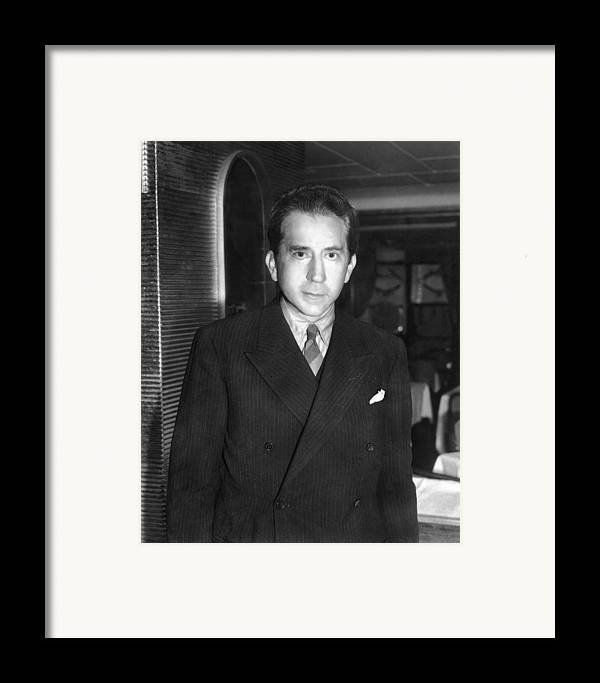 1950s Framed Print featuring the photograph J. Paul Getty, Ca. 1957 by Everett