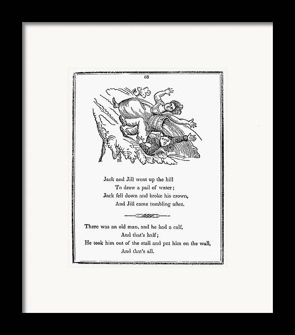 1833 Framed Print featuring the photograph Jack And Jill, 1833 by Granger